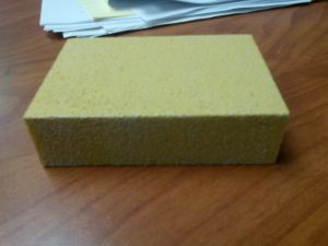 A 380 grade brick of sandpaper