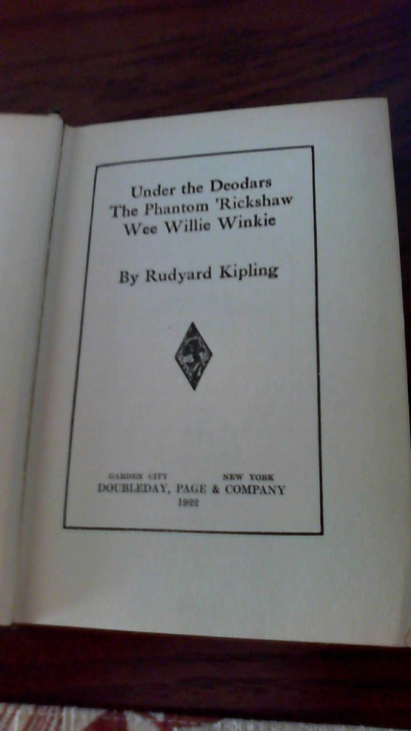 Title page from a 1922 Kipling Book