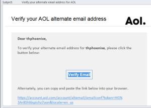 Confirm AOL Message