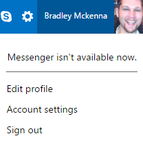Hotmail Account Settings Menu