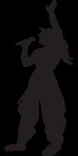 Silhouette of a Karaoke Singer