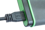 Picture of a external hard drive's USB connector